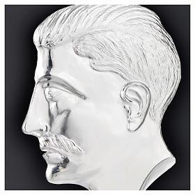 Ex voto testa di uomo argento 925 o metallo 15 cm s2