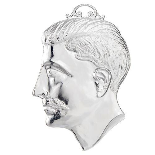 Ex voto testa di uomo argento 925 o metallo 15 cm 1