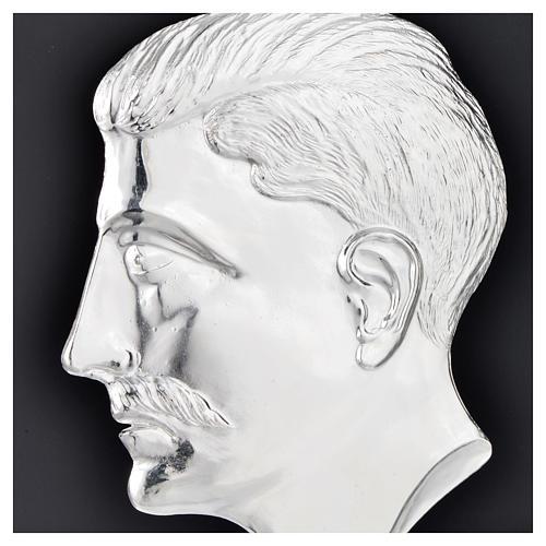 Ex voto testa di uomo argento 925 o metallo 15 cm 2