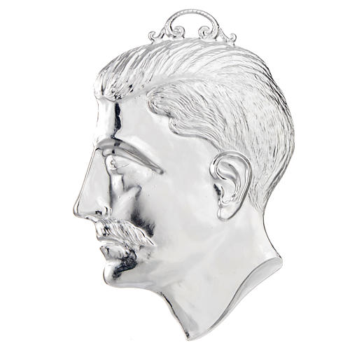 Ex-voto, male head in sterling silver or metal 15cm 1