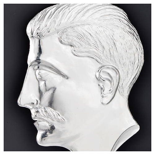 Ex-voto, male head in sterling silver or metal 15cm 2
