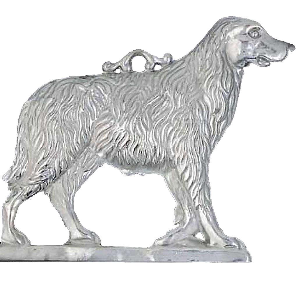 Exvoto cane con base argento 925 o metallo 19x19 cm 3