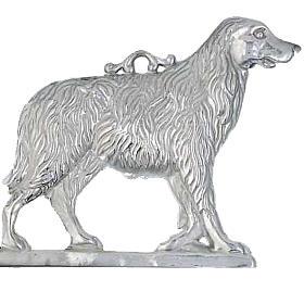 Exvoto cane con base argento 925 o metallo 19x19 cm s1