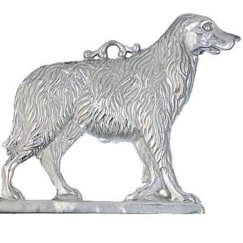 Exvoto cane con base argento 925 o metallo 19x19 cm 1