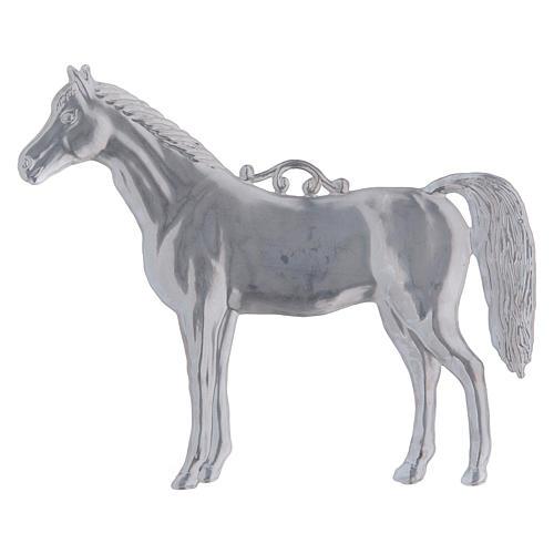 Ex-voto horse in metal, 14x17cm 2