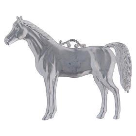 Ex-voto caballo  metal 14 x 7 cm. s2