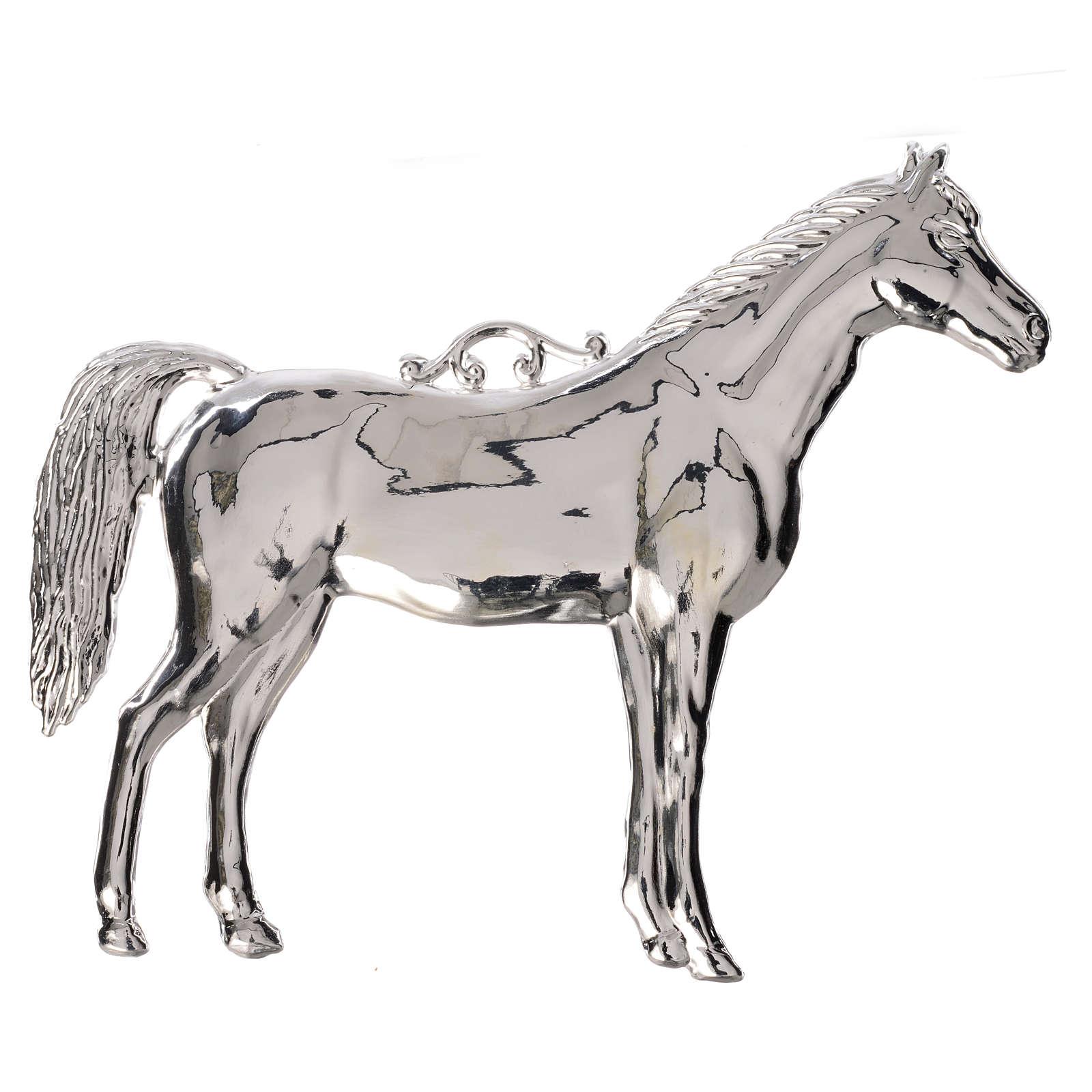 Ex voto cheval en argent 925 ou métal 14x17 cm 3