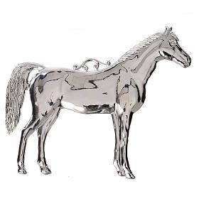 Ex voto cheval en argent 925 ou métal 14x17 cm s1