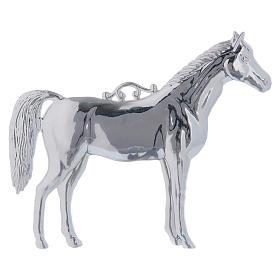 Ex-Voto: Ex voto cheval en argent 925 ou métal 14x17 cm