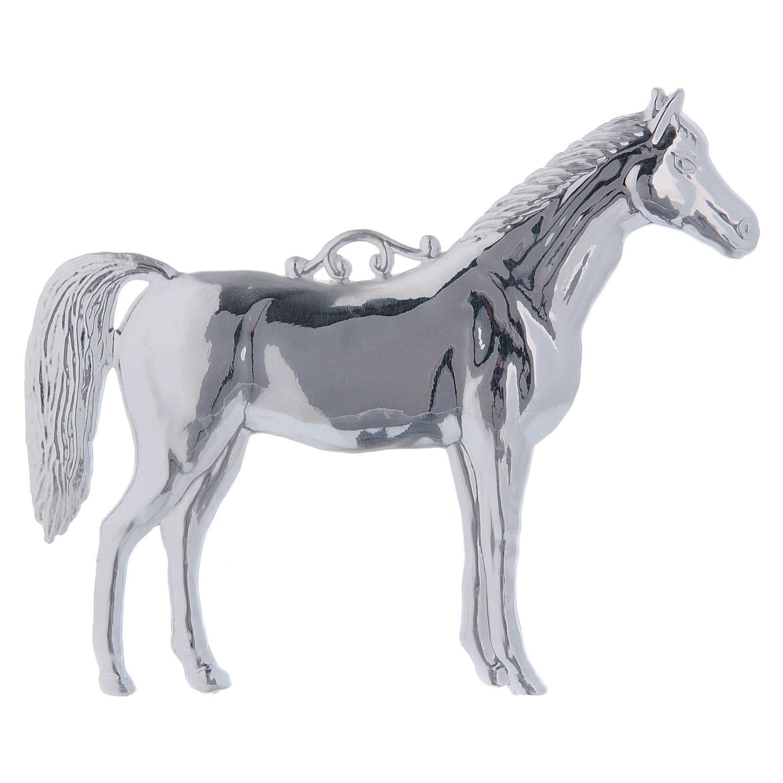 Exvoto cavallo argento 925 o metallo 14x17 cm 3