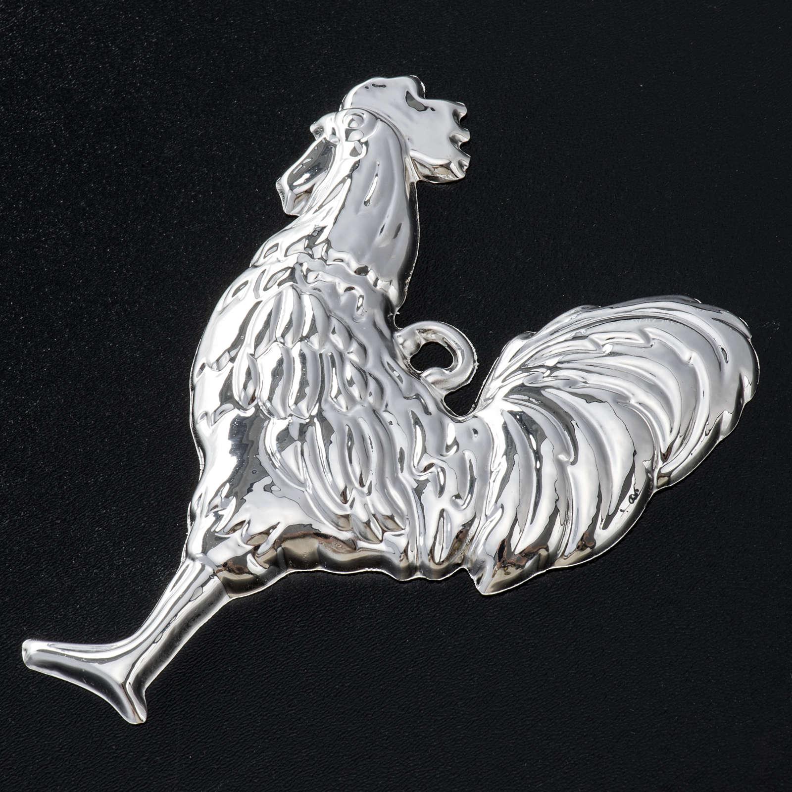 Exvoto gallo argento 925 o metallo 10x8 cm 3