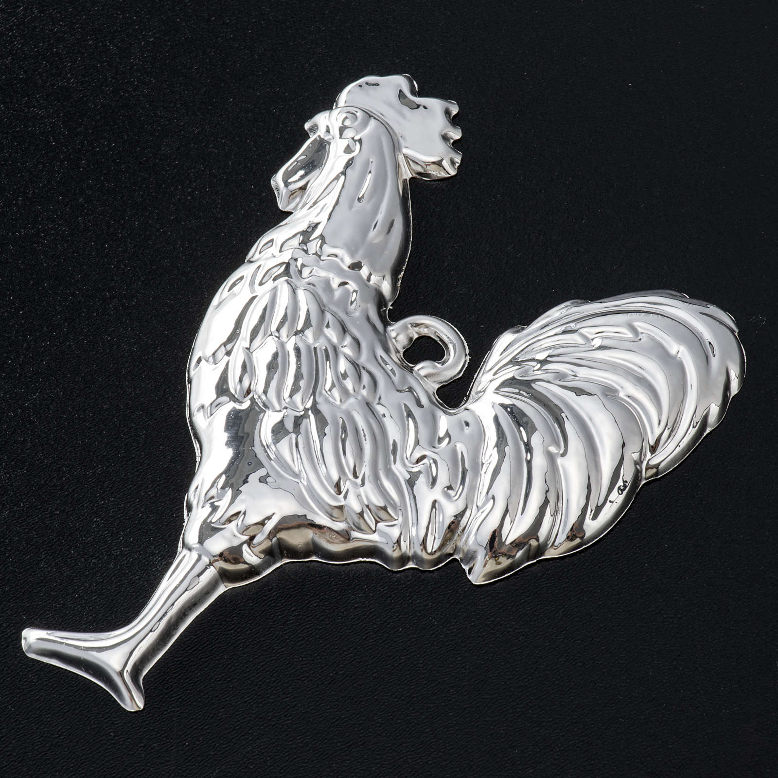 Ex-voto, cock in sterling silver or metal, 10 x 8cm 3
