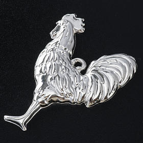 Ex-voto, cock in sterling silver or metal, 10 x 8cm s2