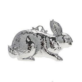 Ex-Voto: Ex voto lapin en argent 925 ou métal 10x6 cm