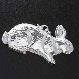 Exvoto coniglio argento 925 o metallo 10x6 cm s2