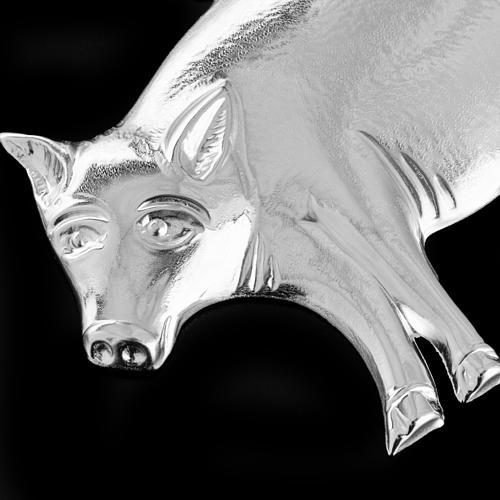 Ex-voto cerdo plata 925 o metal 10 x 6 cm. 3