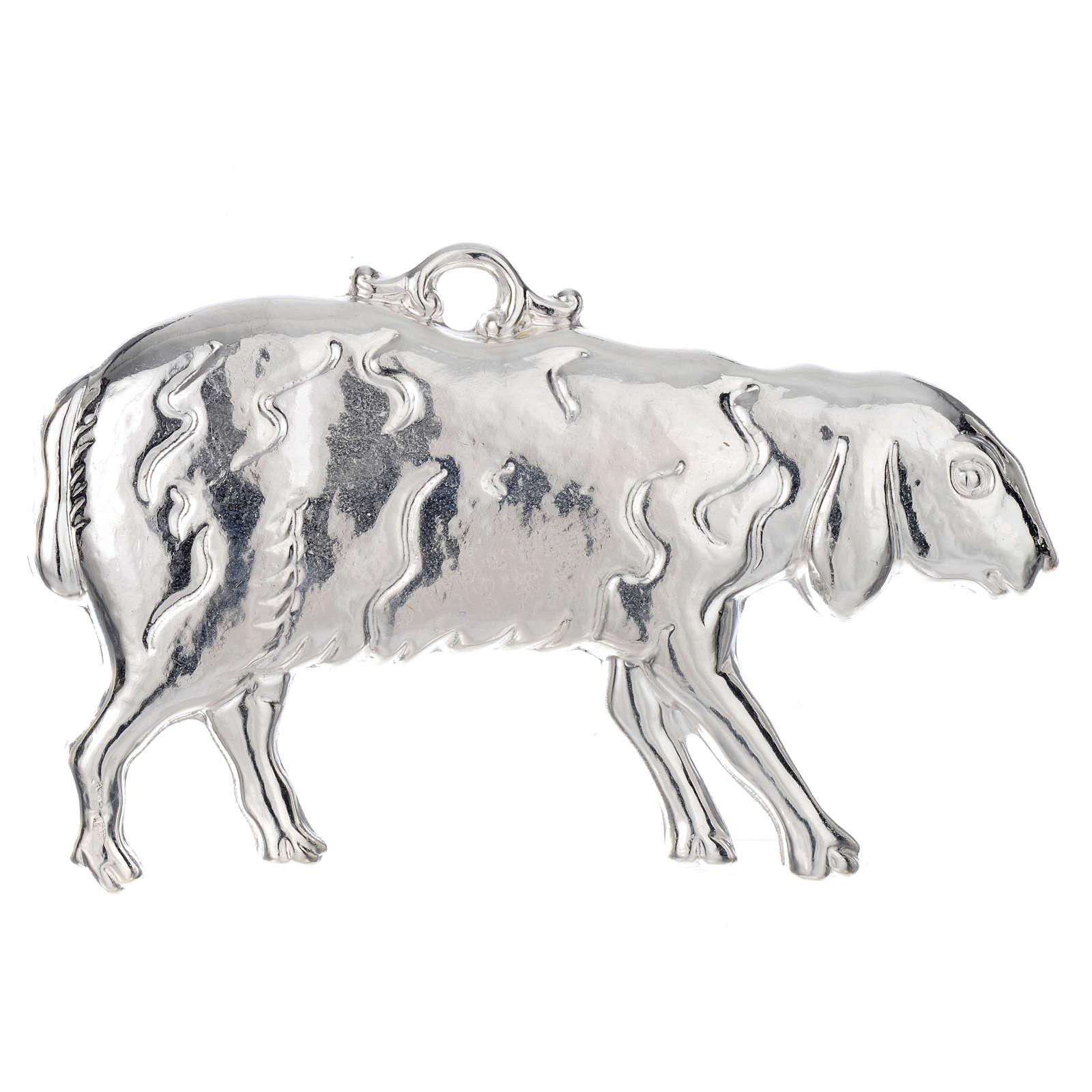 Ex-voto ovelha prata 925 ou metal 11x6 cm 3