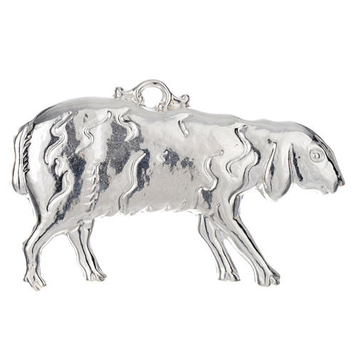 Ex-voto ovelha prata 925 ou metal 11x6 cm 1