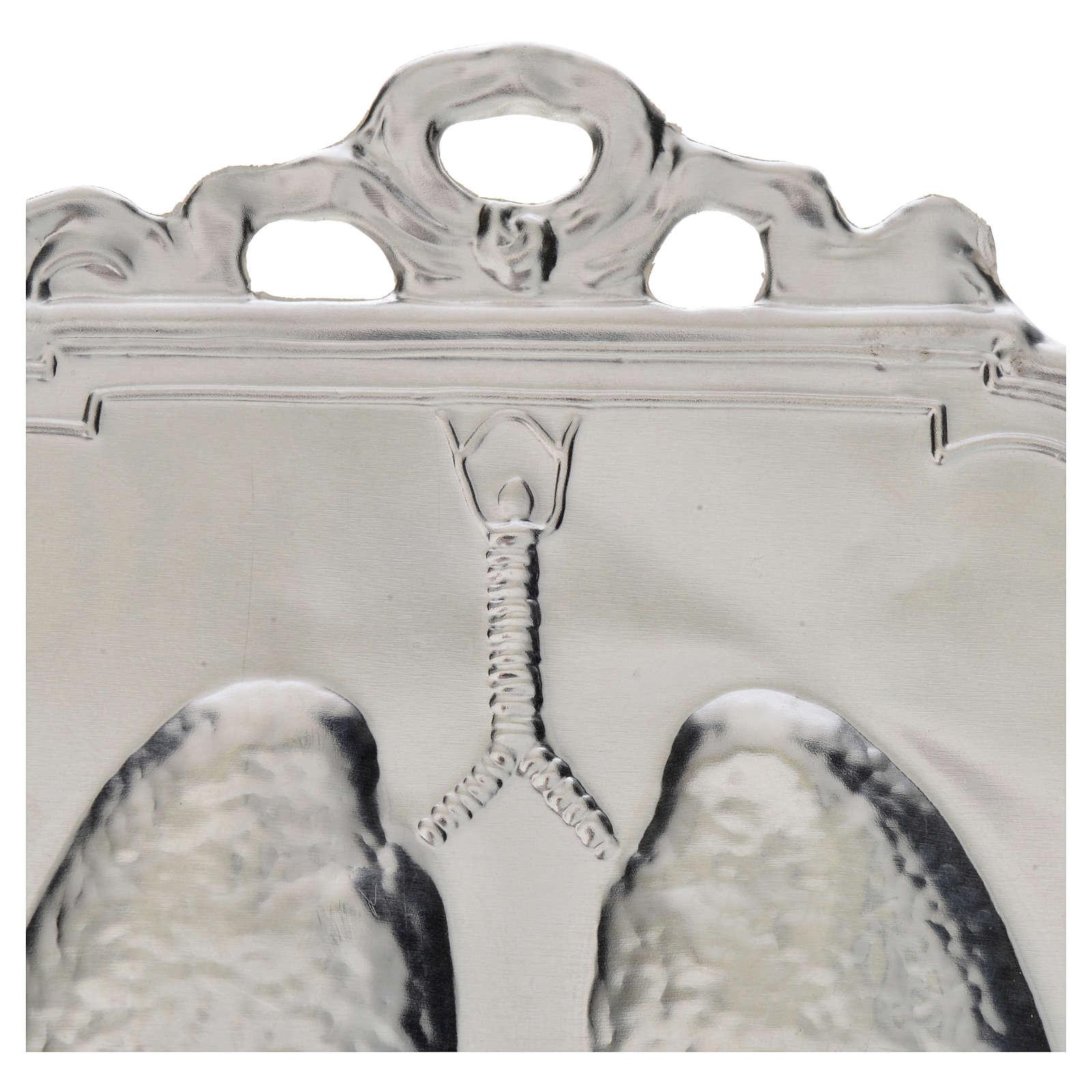 Ex voto polmoni 12x9 cm 3