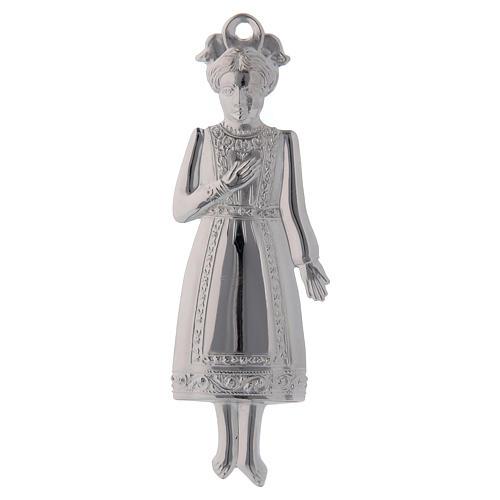 STOCK Girl in metal, ex-voto 13 cm 1