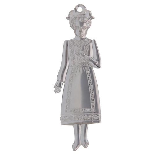 STOCK Girl in metal, ex-voto 13 cm 2