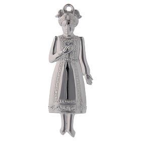 ESTOQUE Ex-voto Menina Prata 925 ou Metal 13 cm s1