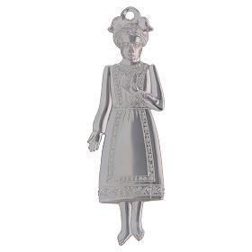 ESTOQUE Ex-voto Menina Prata 925 ou Metal 13 cm s2