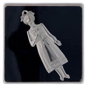 ESTOQUE Ex-voto Menina Prata 925 ou Metal 13 cm s3