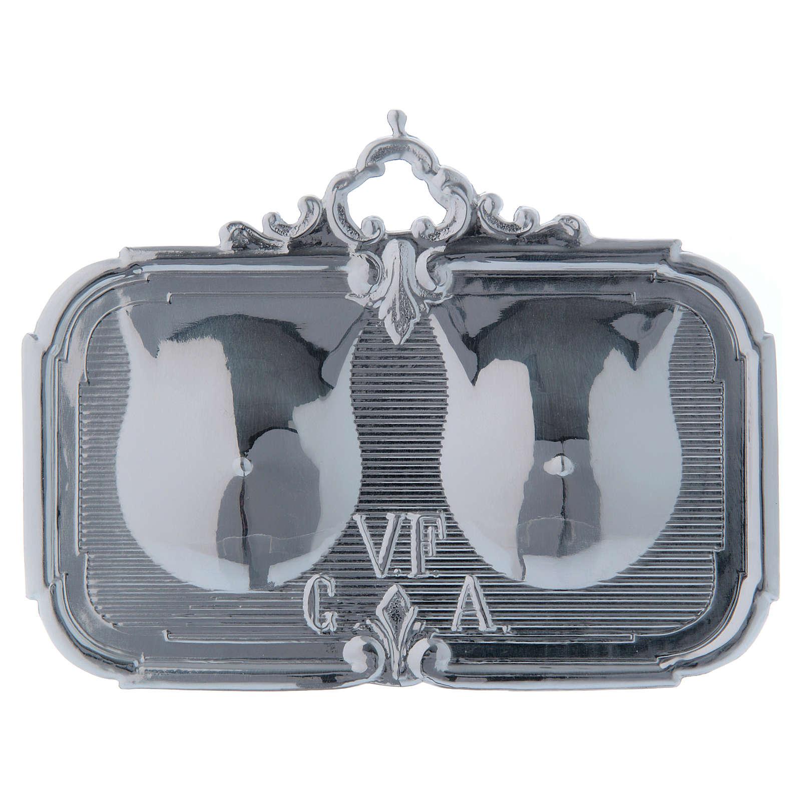 STOCK Ex-voto Sein double métal 13x8 cm 3