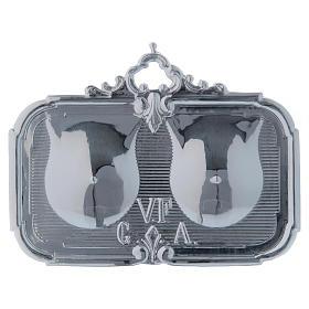 STOCK Ex-voto Sein double métal 13x8 cm s1