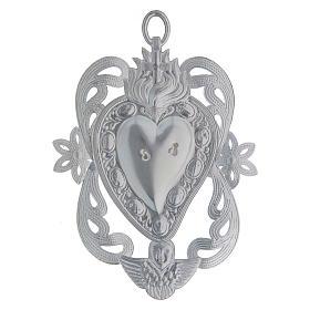 STOCK Votive heart in metal, ex-voto 10x7 cm s2