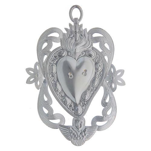 STOCK Votive heart in metal, ex-voto 10x7 cm 2