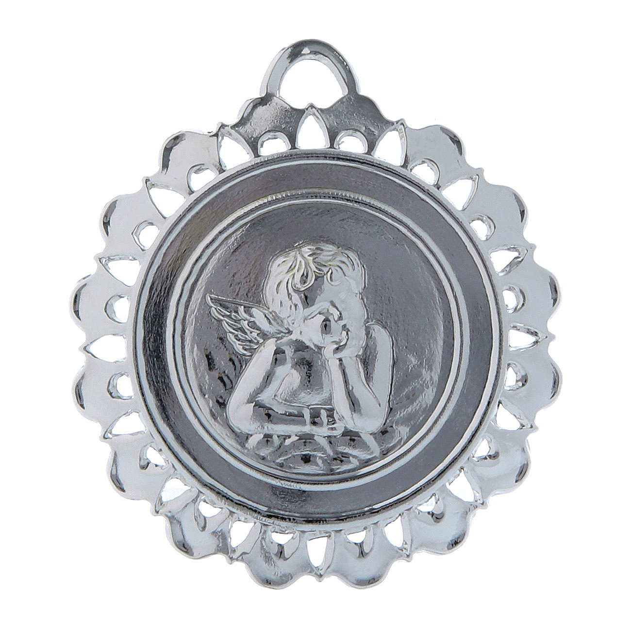 STOCK Medallón Votivo metal diámetro 5 cm 3