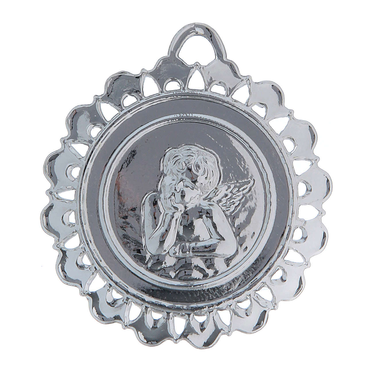 STOCK Medaglione Votivo metallo diametro 5 cm 3