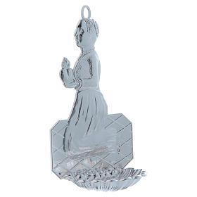 STOCK Acquasantiera metallo donna in preghiera h. 12 cm s2