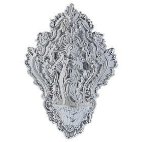 Ex-Voto: STOCK Bénitier métal image de Marie 24 cm