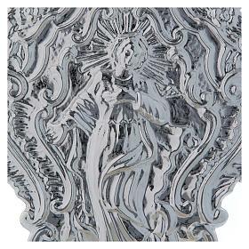 STOCK Pia água benta metal imagem de Maria 24 cm s2