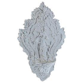 STOCK Pia água benta metal imagem de Maria 24 cm s3
