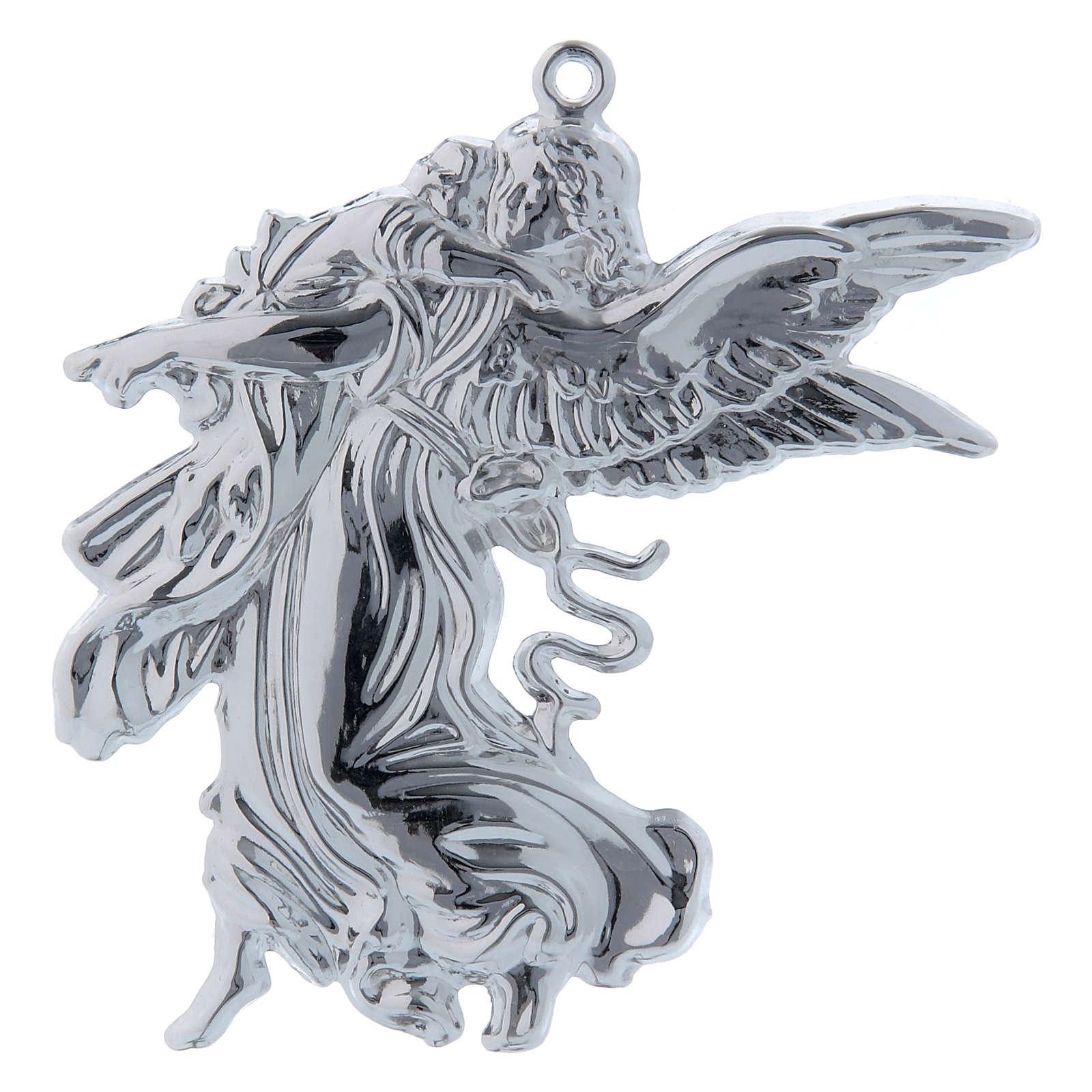STOCK Angelo custode votivo in metallo h. 11 cm 3