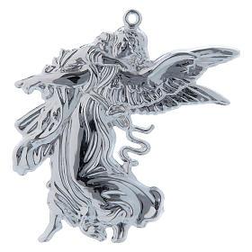 STOCK Angelo custode votivo in metallo h. 11 cm s1
