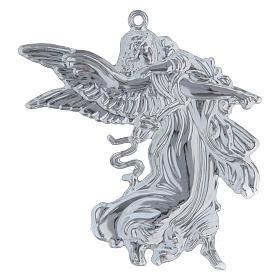 STOCK Angelo custode votivo in metallo h. 11 cm s2