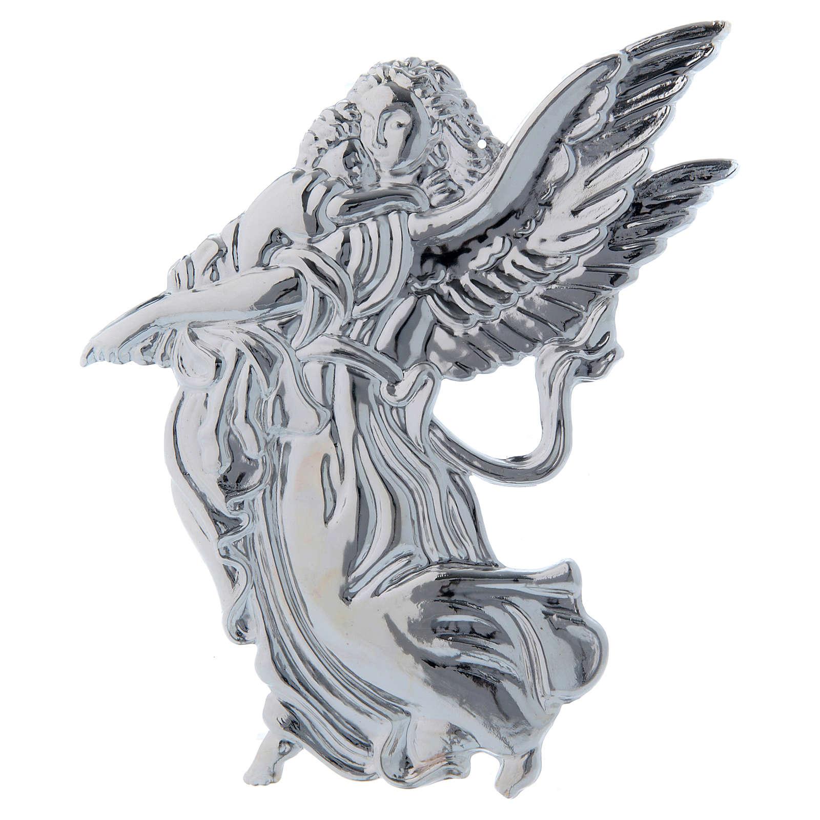 STOCK Angelo ex-voto in metallo cm 18 3