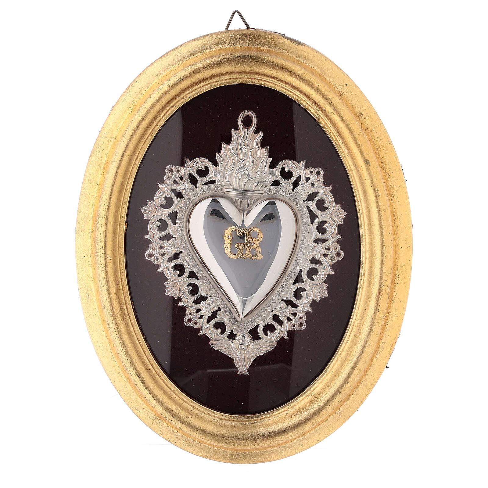 Exvoto Corazón llama y ángel con funda 3