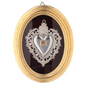 Exvoto Corazón llama y ángel con funda s1