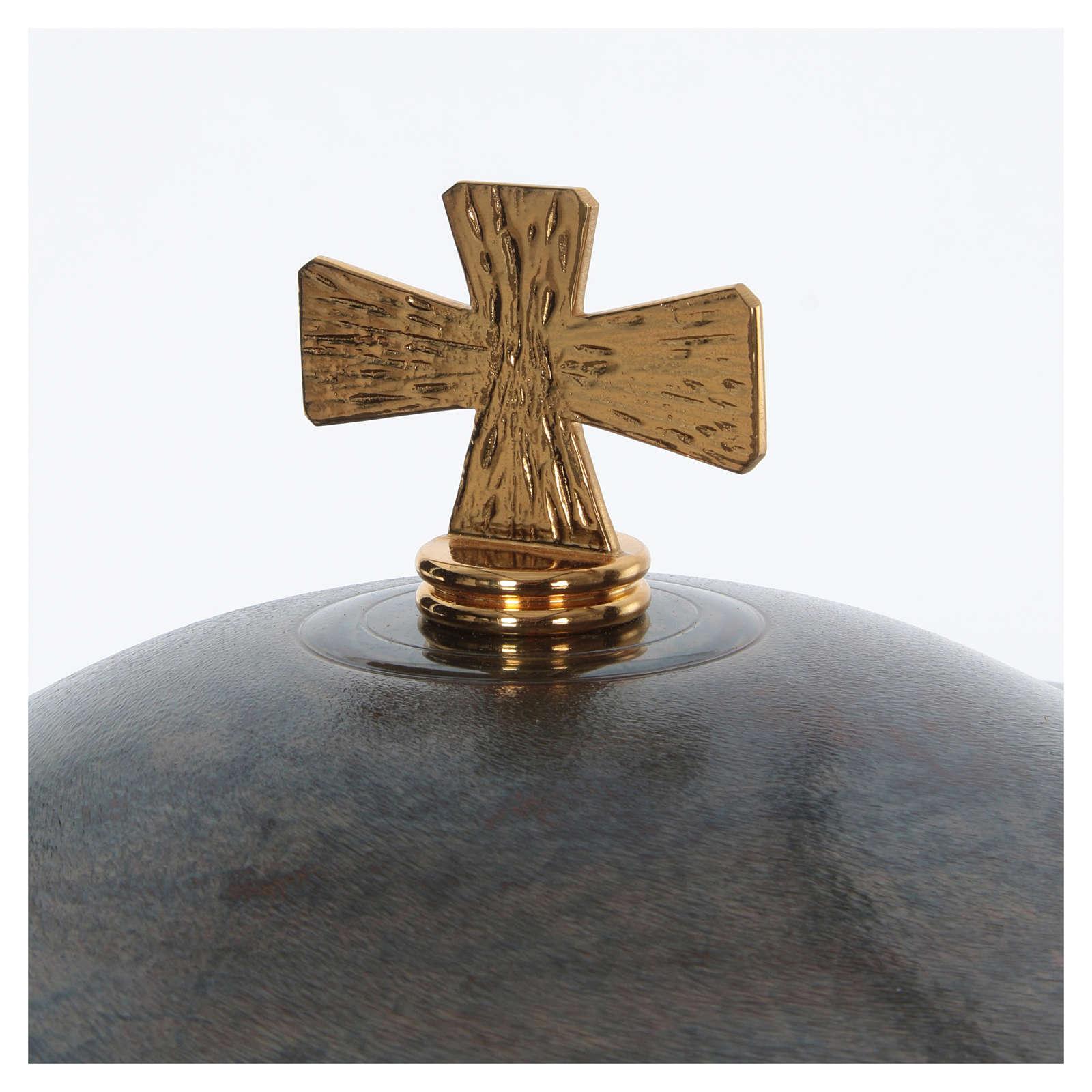 Fuente bautismal moderna de bronce 4