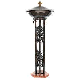 Fuente bautismal moderna de bronce s2