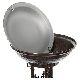 Fuente bautismal moderna de bronce s7