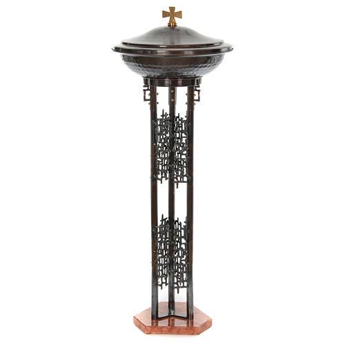 Font baptismal moderne en bronze 2