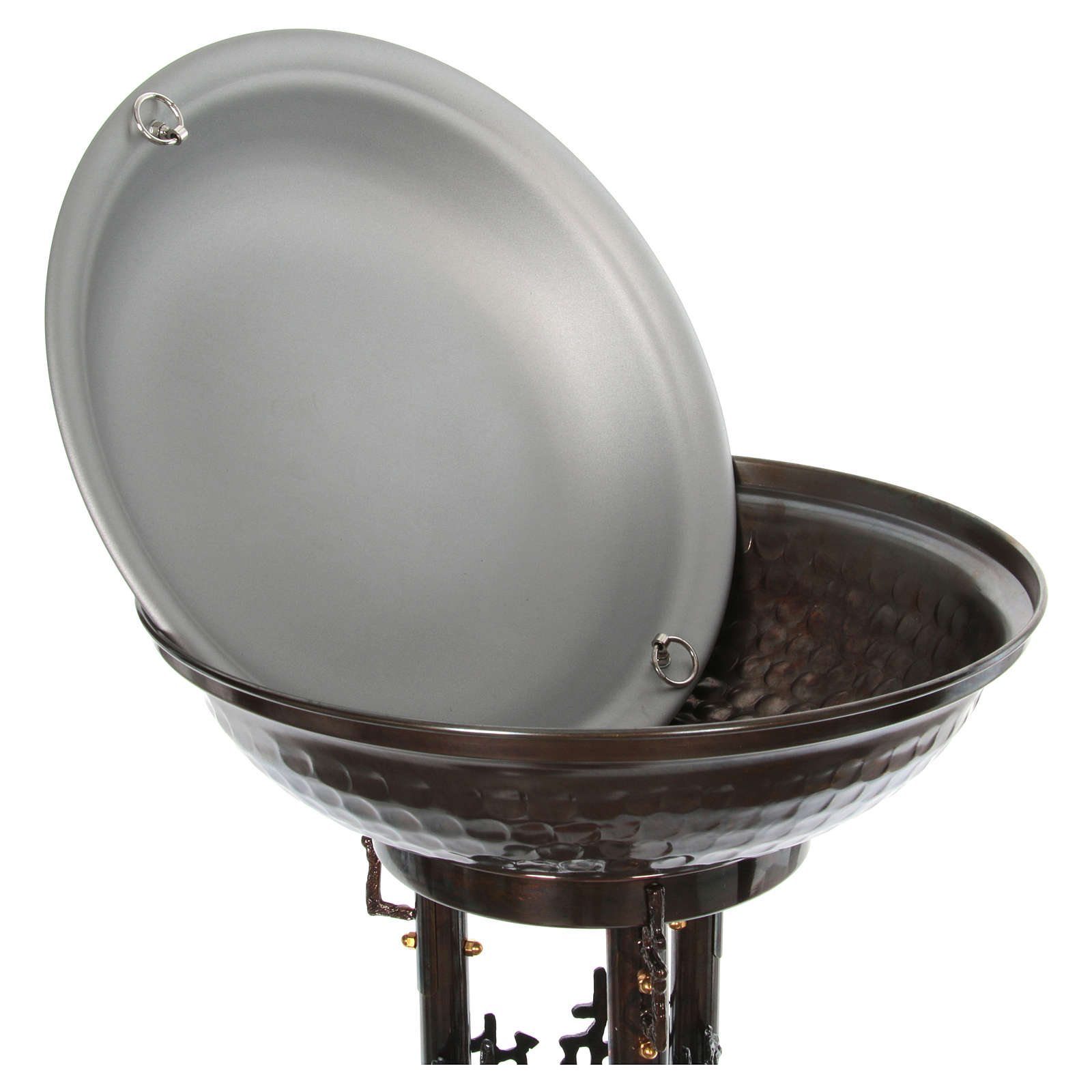 Fonte battesimale moderno in bronzo 4