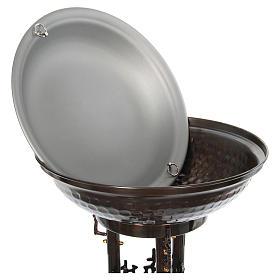 Fonte battesimale moderno in bronzo s7
